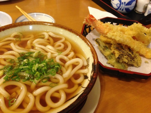 Udon e tempurá do Shinzushi.