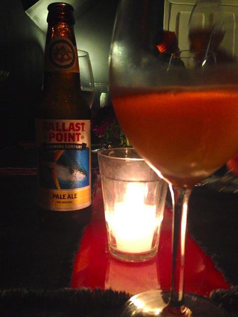 Pale Ale, da Ballast Point, para acompanhar os petiscos