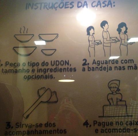 Passo a passo do udon self service para ninguém se perder